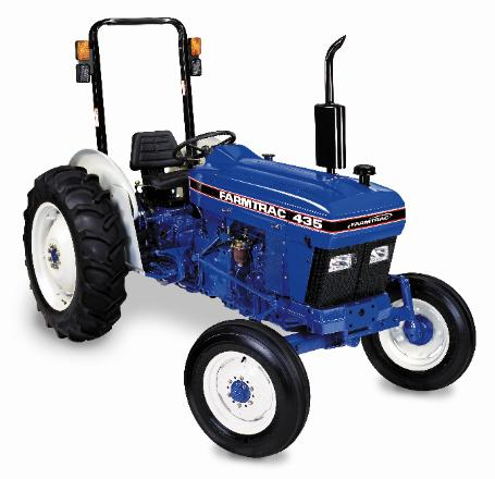 This FarmTrac 435 has a 35 horse power, 131 cubic inch Escort Engine, and it weighs 4220 pounds.  Get your FarmTrac 435 at Sundowner Tractor today!  918-696-5965